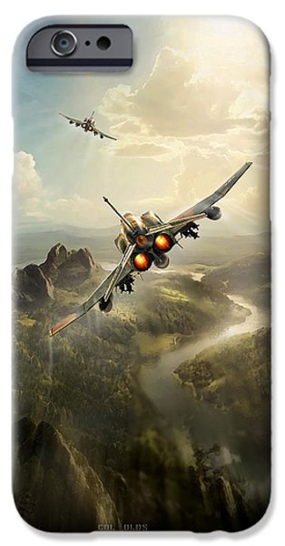 Wwi iPhone Cases - SCAT XXVII part three iPhone Case by Peter Van Stigt