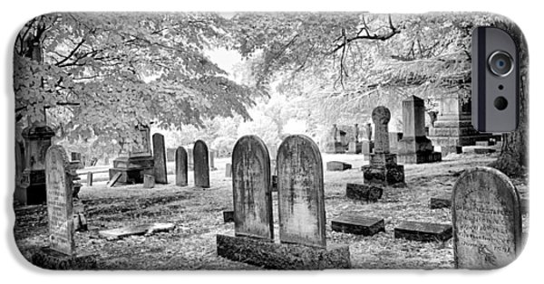 Headstones iPhone Cases - Scattered Souls - Greensboro North Carolina iPhone Case by Dan Carmichael