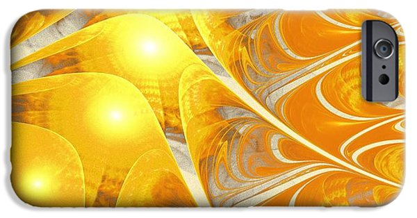 Sun Rays Mixed Media iPhone Cases - Scattered Sun iPhone Case by Anastasiya Malakhova