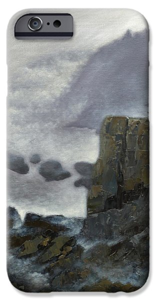 Park Scene Paintings iPhone Cases - Scene from Quoddy Trail iPhone Case by Alison Barrett Kent