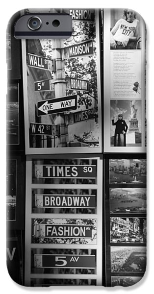 SCENES OF NEW YORK in BLACK AND WHITE iPhone Case by ROB HANS