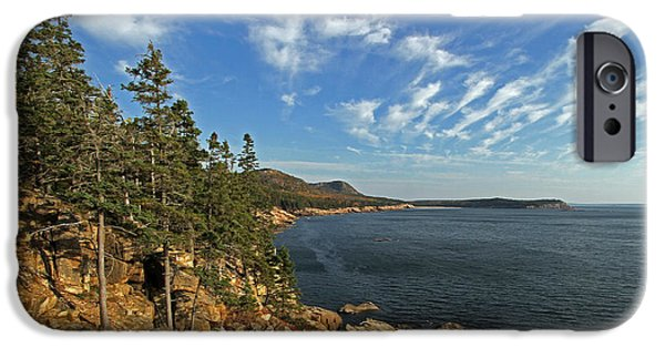 Maine Seacoast iPhone Cases - Scenic Maine Acadia Coast Photography iPhone Case by Juergen Roth