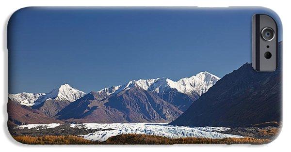 Matanuska iPhone Cases - Scenic Of Matanuska Glacier And Chugach iPhone Case by Kevin Smith