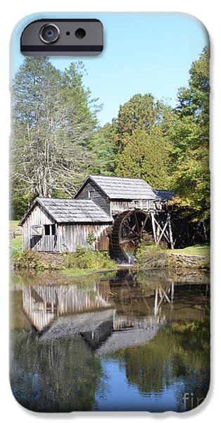 Grist Mill iPhone Cases - Scenic Reflections iPhone Case by Kathleen Struckle
