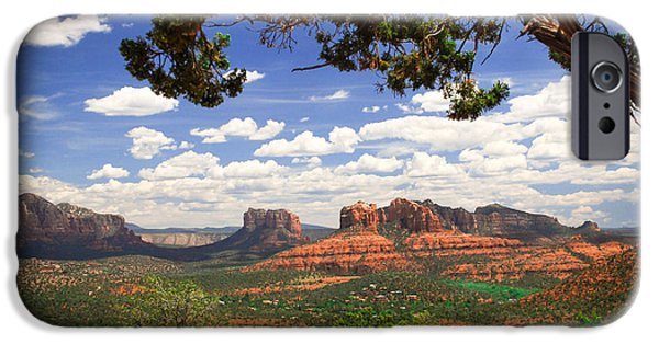 Sedona iPhone Cases - Scenic Sedona iPhone Case by Barbara Manis