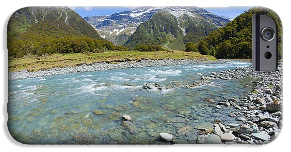 Recently Sold -  - River iPhone Cases - Scenic valley in New Zealand iPhone Case by Alexey Stiop