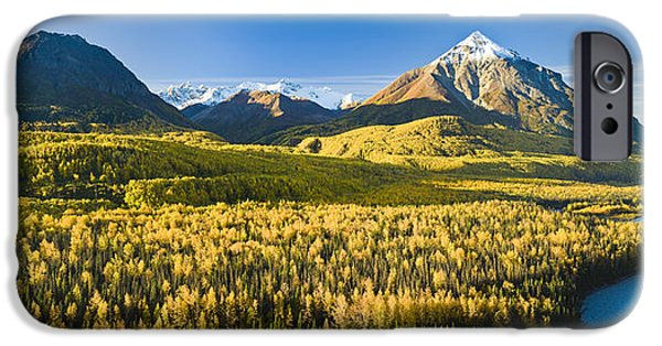 Matanuska iPhone Cases - Scenic View Of King Mountain And The iPhone Case by Michael DeYoung
