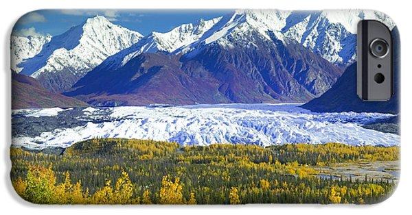 Matanuska iPhone Cases - Scenic View Of Matanuska Glacier & iPhone Case by Michael DeYoung