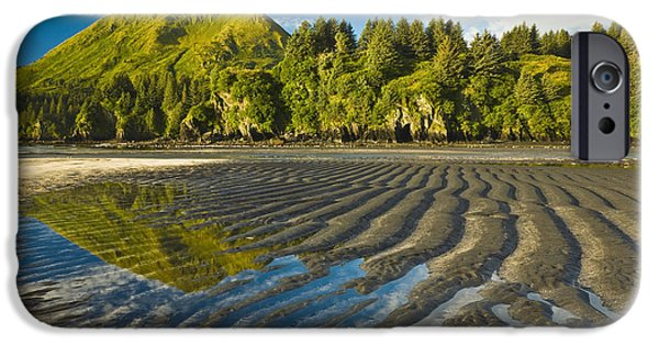 Tidal Creek iPhone Cases - Scenic View Of Tidal Flats At Low Tide iPhone Case by Michael DeYoung