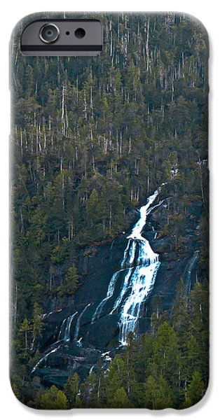 East Cracoft Island iPhone Cases - Scenic Waterfall iPhone Case by Robert Bales