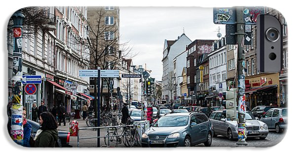 Financial Interest iPhone Cases - Schanzenviertel in Hamburg - Germany iPhone Case by Frank Gaertner