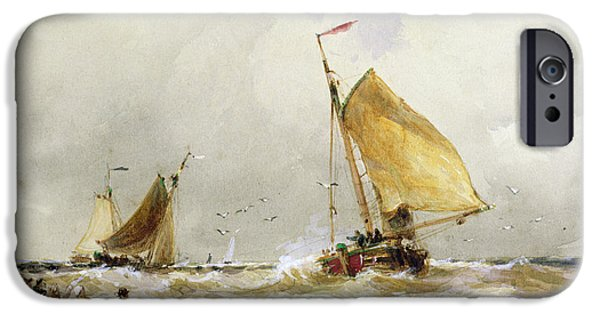Recently Sold -  - Sailboat iPhone Cases - Schevenegen Beach iPhone Case by Thomas Hardy