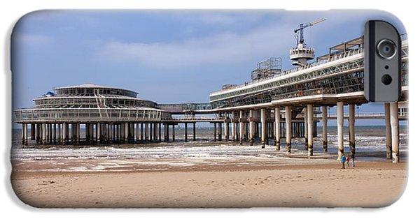 North Sea iPhone Cases - Scheveningen Beach and Pier in Hague iPhone Case by Artur Bogacki