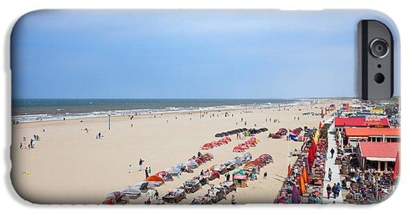 North Sea iPhone Cases - Scheveningen Beach in The Hague iPhone Case by Artur Bogacki