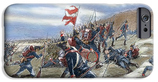 19th Century Photographs iPhone Cases - Schleswig-holstein Question. The First Schleswig War Or Three Years War 1848-1851. Fighting iPhone Case by Bridgeman Images
