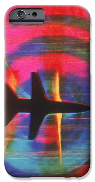 Schlieren Image of Aircraft iPhone Case by Garry Settles