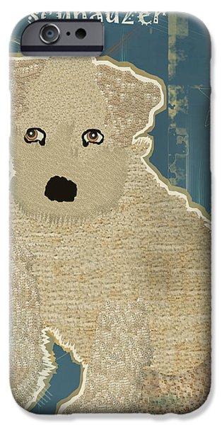 Schnauzer Puppy iPhone Cases - Schnauzer Puppy iPhone Case by Bri Buckley