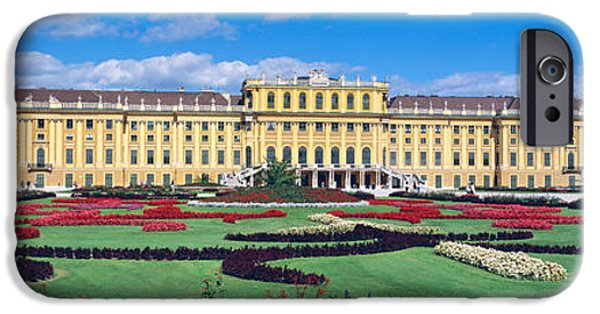 Palatial iPhone Cases - Schonbrunn Palace, Gardens, Vienna iPhone Case by Panoramic Images