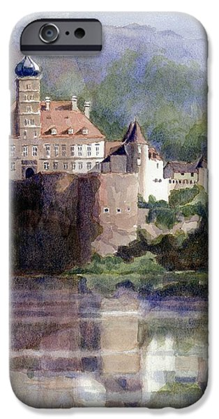 Janet King iPhone Cases - Schonbuhel Castle in Austria iPhone Case by Janet King