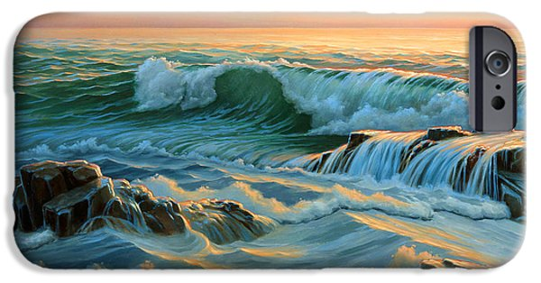 Maine Seascapes iPhone Cases - Schoodic Point before Sunrise  iPhone Case by Paul Krapf