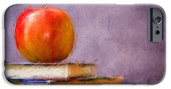 Paint Photograph iPhone Cases - School Apple iPhone Case by Georgiana Romanovna