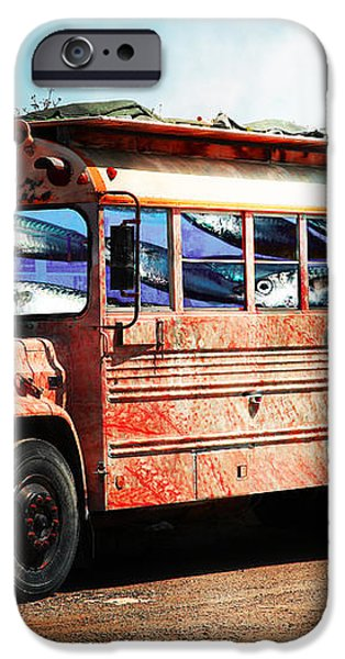 School Bus 5D24927 iPhone Case by Wingsdomain Art and Photography