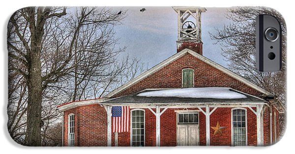 Old School House iPhone Cases - School Days iPhone Case by Lori Deiter