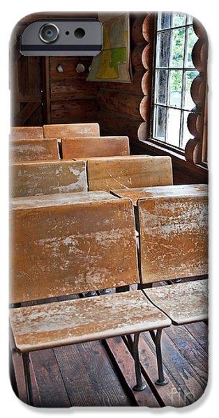 School Days Past iPhone Case by Valerie Garner