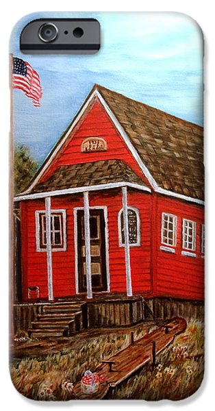 School House iPhone Case by Kenneth  LePoidevin