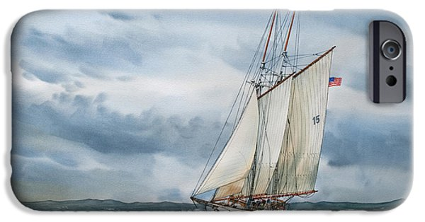 Tall Ship iPhone Cases - Schooner Adventuress iPhone Case by James Williamson