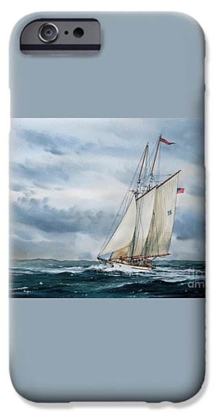 Schooner Adventuress iPhone Case by James Williamson
