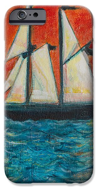 Warn In iPhone Cases - Schooner iPhone Case by Erik Warn