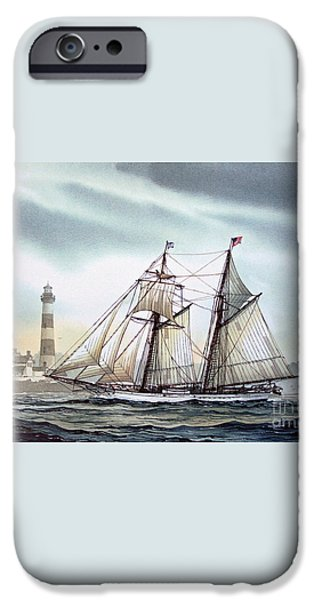Schooner Light iPhone Case by James Williamson