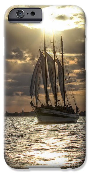 Tall Ship iPhone Cases - Schooner Pride Charleston SC iPhone Case by Dustin K Ryan
