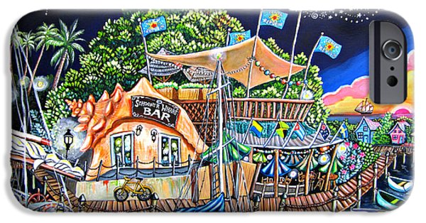 Bouys Paintings iPhone Cases - Schooner Wharf Bar iPhone Case by Abigail White