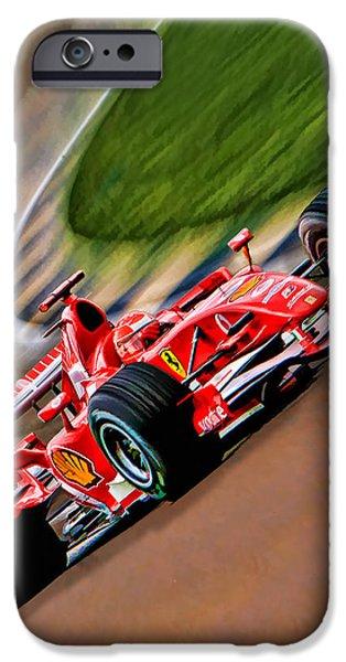 Michael Schumacher iPhone Cases - Schumacher Bend iPhone Case by Blake Richards