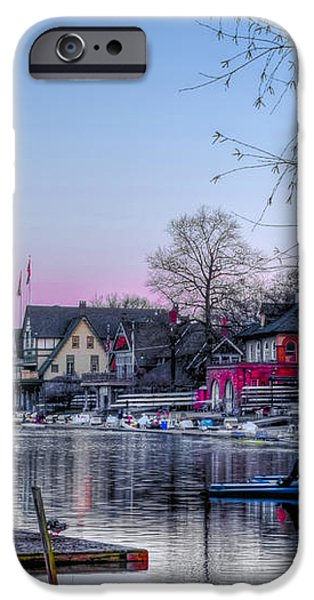 Schuylkill River and Boathouse Row Philadelphia iPhone Case by Bill Cannon
