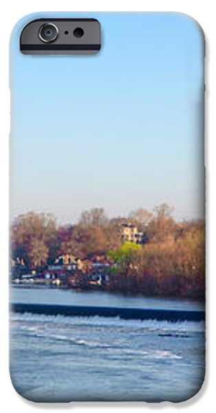 Schuylkill River at Boathouse Row and  the Fairmount Waterworks iPhone Case by Bill Cannon