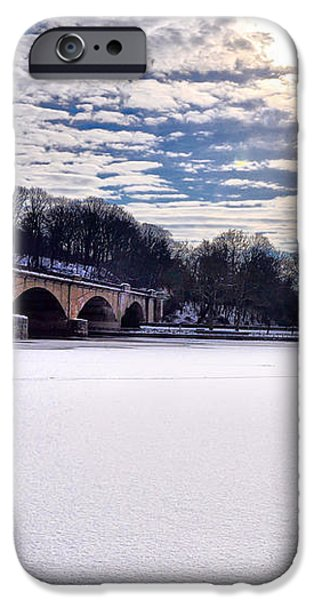 Schuylkill River - Frozen iPhone Case by Bill Cannon