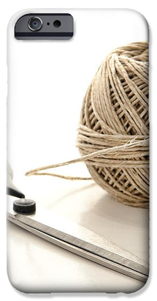 Scissors and Twine iPhone Case by Olivier Le Queinec