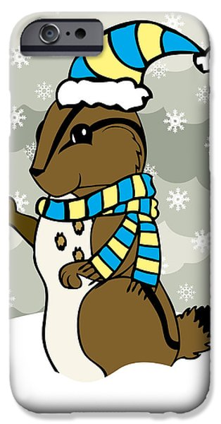 Scoot iPhone Cases - Scoot Winter iPhone Case by Christy Beckwith