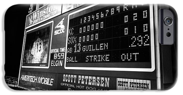 Baseball iPhone Cases - Scoreboard In A Baseball Stadium, U.s iPhone Case by Panoramic Images