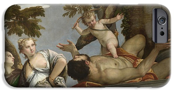 Paolo iPhone Cases - Scorn iPhone Case by Paolo Veronese