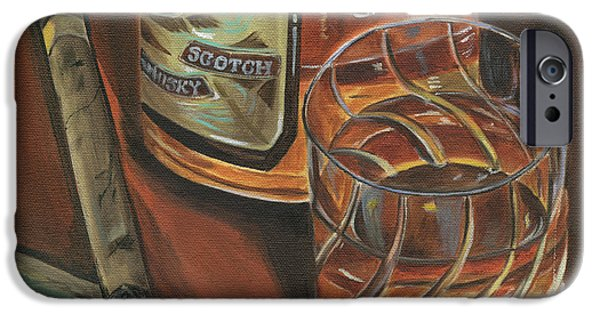 Smoke iPhone Cases - Scotch and Cigars 3 iPhone Case by Debbie DeWitt