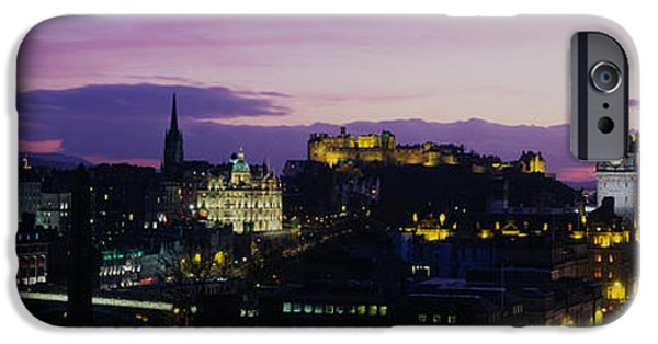 Historical Buildings iPhone Cases - Scotland, Edinburgh Castle iPhone Case by Panoramic Images