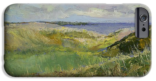 Michael Paintings iPhone Cases - Scotland Landscape iPhone Case by Michael Creese