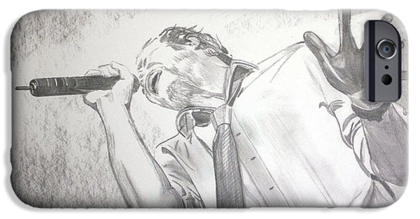 Stone Temple Pilots iPhone Cases - Scott Weiland iPhone Case by Charlotte NC Artist Phil  Robinson