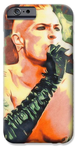 Stone Temple Pilots iPhone Cases - Scott Weiland Portrait iPhone Case by Scott Wallace
