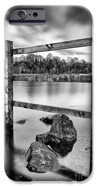 Scottish Loch with Fence iPhone Case by John Farnan