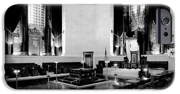 Empty Chairs iPhone Cases - Scottish Rite Masonic Temple in Washington D.C. iPhone Case by Mountain Dreams